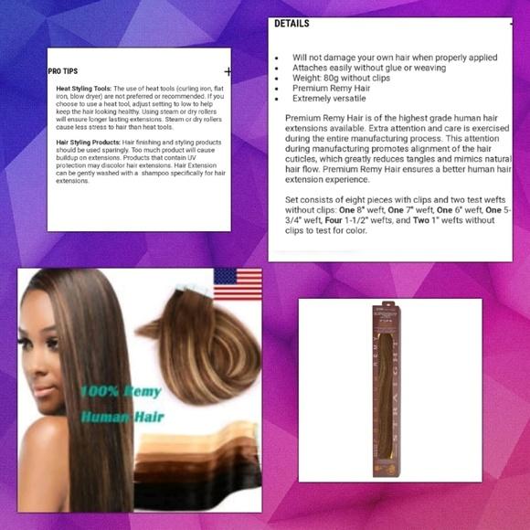 Euronext Accessories 18 Real Remy Hairtoffee Brown Bnib Poshmark